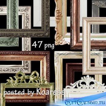 Png клипарт для дизайна - Рамки багеты на прозрачном фоне