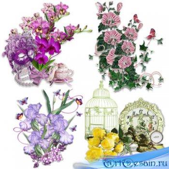 Клипарт – кластеры – Аромат цветов приносит радость