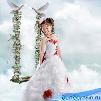 Шаблон  детский -  Воздушные качели