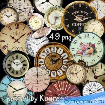 Старинные и винтажные часы - png клипарт для дизайна