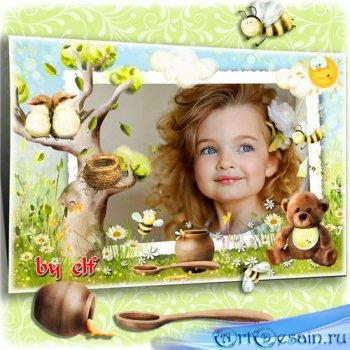 Рамка для детских фото - Летом пчелкам целый день собирать нектар не лень