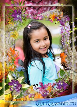 Рамочка для фото - среди ярких цветов и красок