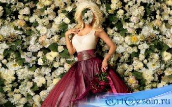Шаблон для Photoshop - Окутана цветами