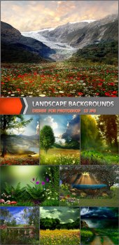 Пейзажные фоны для коллажей 2