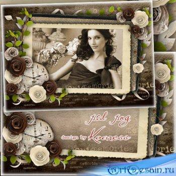 Романтическая рамка для фотошопа - Фотография из старого альбома