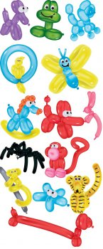 Животные и насекомые из шариков - psd files