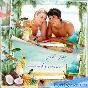 Летняя рамка для фото - Райский уголок