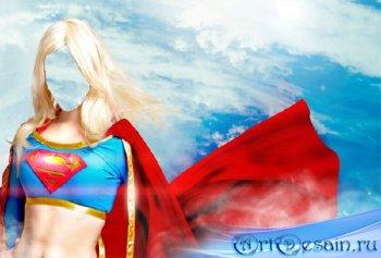 Шаблон psd женский - Супер девушка