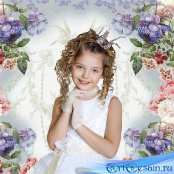 Шаблон  детский - Принцесса