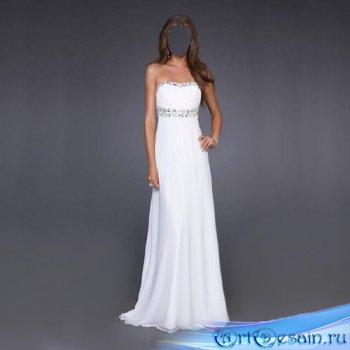 Женский шаблон - В белом платье