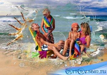 Рамка для фото - Райский отдых на пляже
