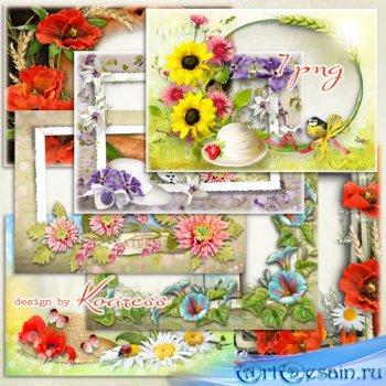Рамки для фото - Летние цветы