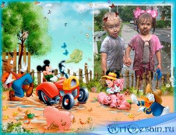 Фоторамочка - В деревне,у бабушки.