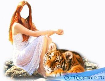 Шаблон для девушек - С дикой кошкой