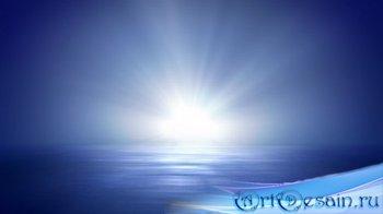 Футаж - Ослепительный Лунный свет