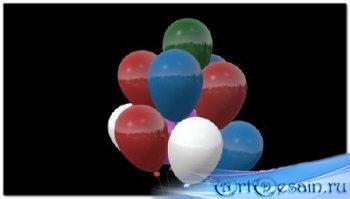 Футаж с вращающимися воздушными шарами