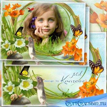 Детская рамка для фото - Летний луг