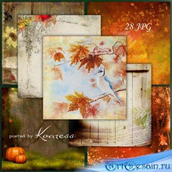 Подборка jpg фонов для фотошопа - Осеннее очарование