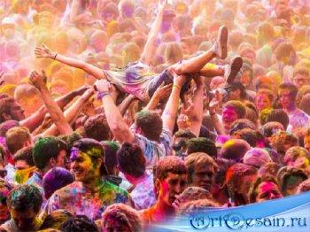 PSD шаблон для девушек - Праздник ярких красок
