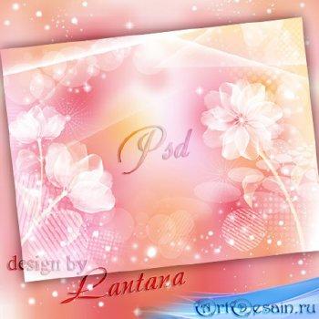 PSD исходник - Нежность кружевом легла на сонные цветы
