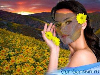 Женский шаблон - Цветущая поляна