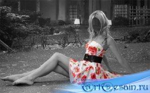 Фото шаблон - Креативное фото в платье