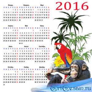 Календарь на 2016 год – Эти шустрые мартышки