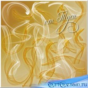 Белое и золотое - Воздушная вуаль - Клипарт
