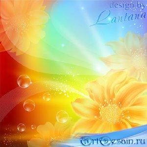 PSD исходник - Осенние цветы по-своему прекрасны