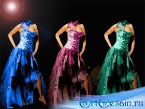 Шаблон для фотошопа - Платье вашего цвета