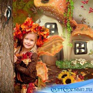 Шаблон  детский - Хозяйка осеннего леса