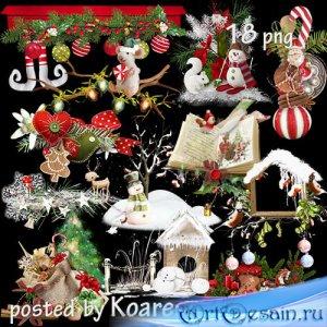 Подборка детского новогоднего, рождественского клипарта - кластеры на прозр ...