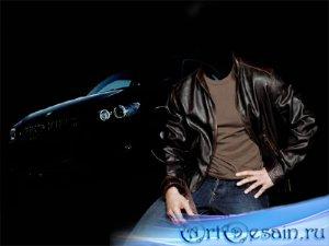 Шаблон для фотомонтажа - С BMW