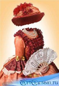 Шаблон для фотомонтажа девочкам – Юная барышня