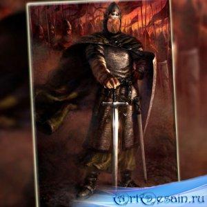 Мужской фото шаблон - Великий король в бою