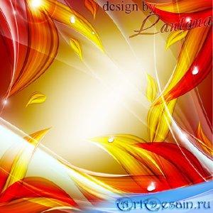 PSD исходник - Осенние листья горят как огонь