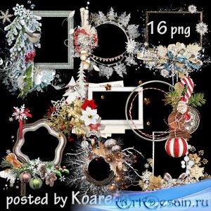 Подборка клипарта в png на прозрачном фоне - Зимние, новогодние рамки-вырез ...