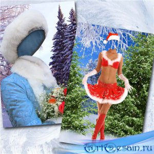Женские новогодние шаблоны – Снегурочки