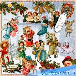 Клипарт в png - Рождественский винтаж