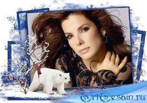 Рамочка для фотошоп - Декабрьский холод
