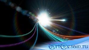 Новогодний футаж с световыми эффектами
