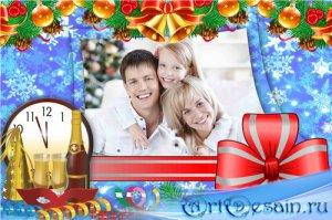 Праздничная рамка для фотошопа – Встреча нового года