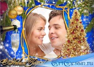 Рамка для фотошопа праздничная – Новогодний тост