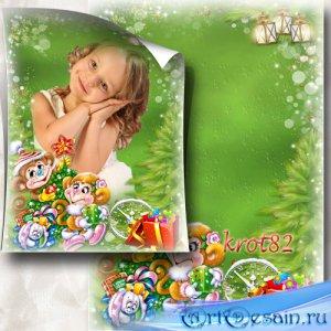 Новогодняя рамка для детей – Хвои аромат витает