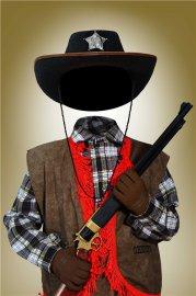 Многослойный фотошоп шаблон для мальчиков – Юный ковбой