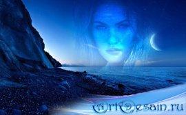 Рамка для фотошоп - Ночной морской берег