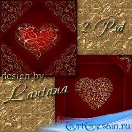 PSD исходники - Золотое сердце 2