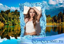 Рамка для фотошоп - Озеро в горах