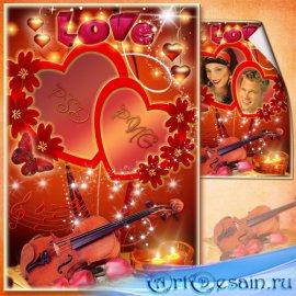 Романтическая рамка для фото - Музыка двух сердец
