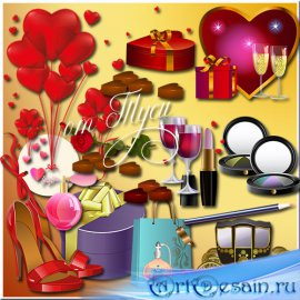 Пусть день святого Валентина подарит счастье и любовь - Клипарт